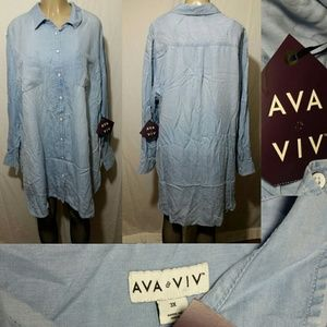 Ava & Viv Shirt Dress- Size 3X